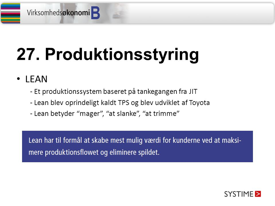 27. Produktionsstyring LEAN