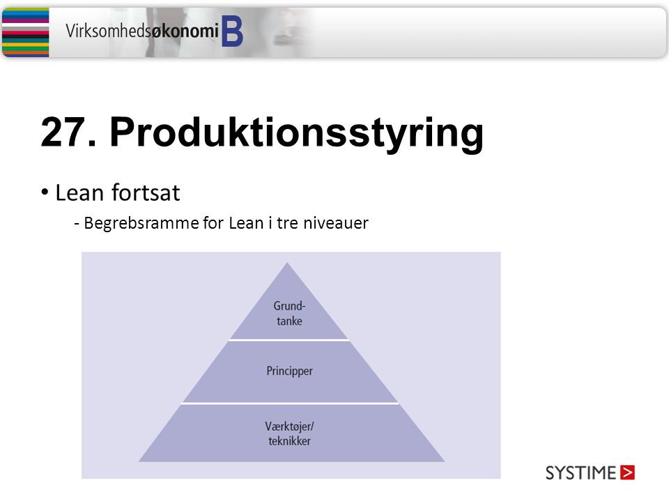27. Produktionsstyring Lean fortsat