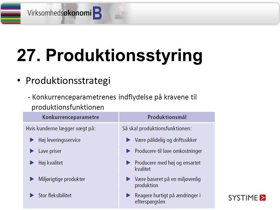 27. Produktionsstyring Produktionsstrategi