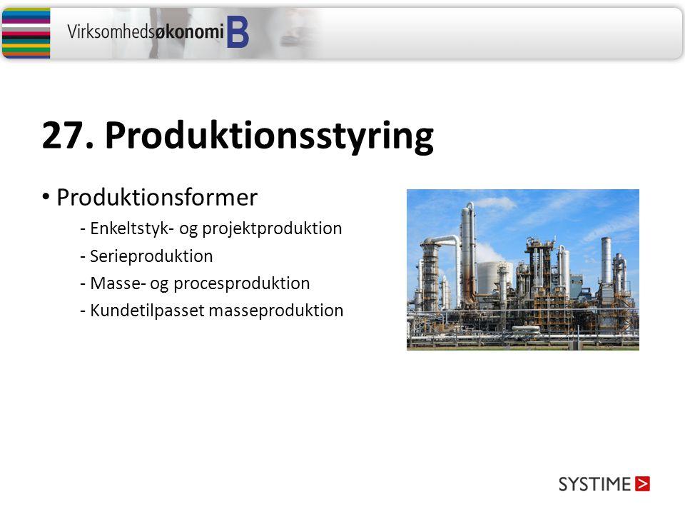 27. Produktionsstyring Produktionsformer