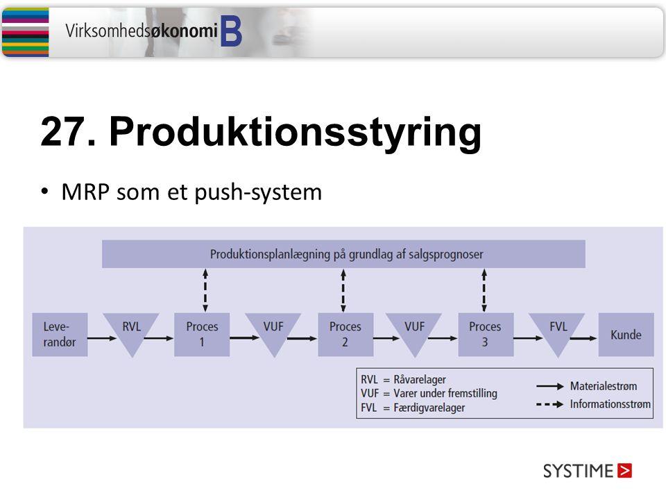 27. Produktionsstyring MRP som et push-system