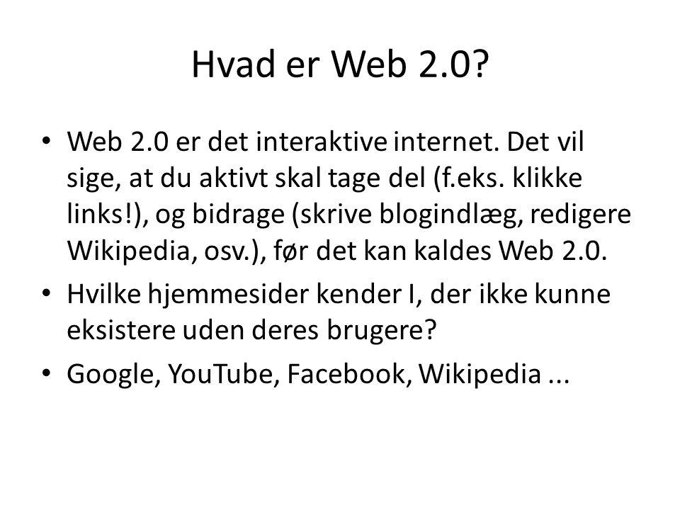 Hvad er Web 2.0