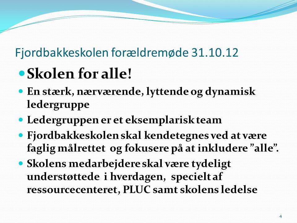 Fjordbakkeskolen forældremøde 31.10.12