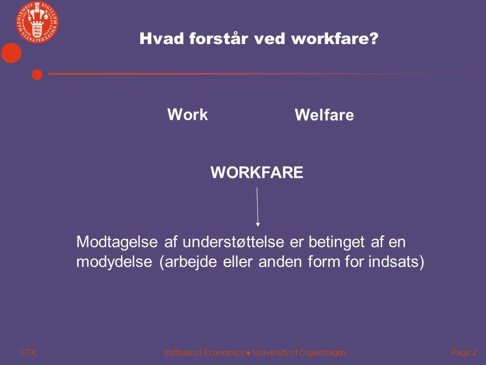 Hvad forstår ved workfare