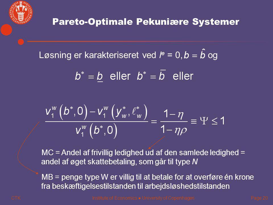 Pareto-Optimale Pekuniære Systemer