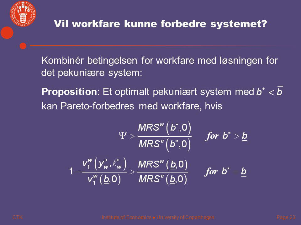 Vil workfare kunne forbedre systemet
