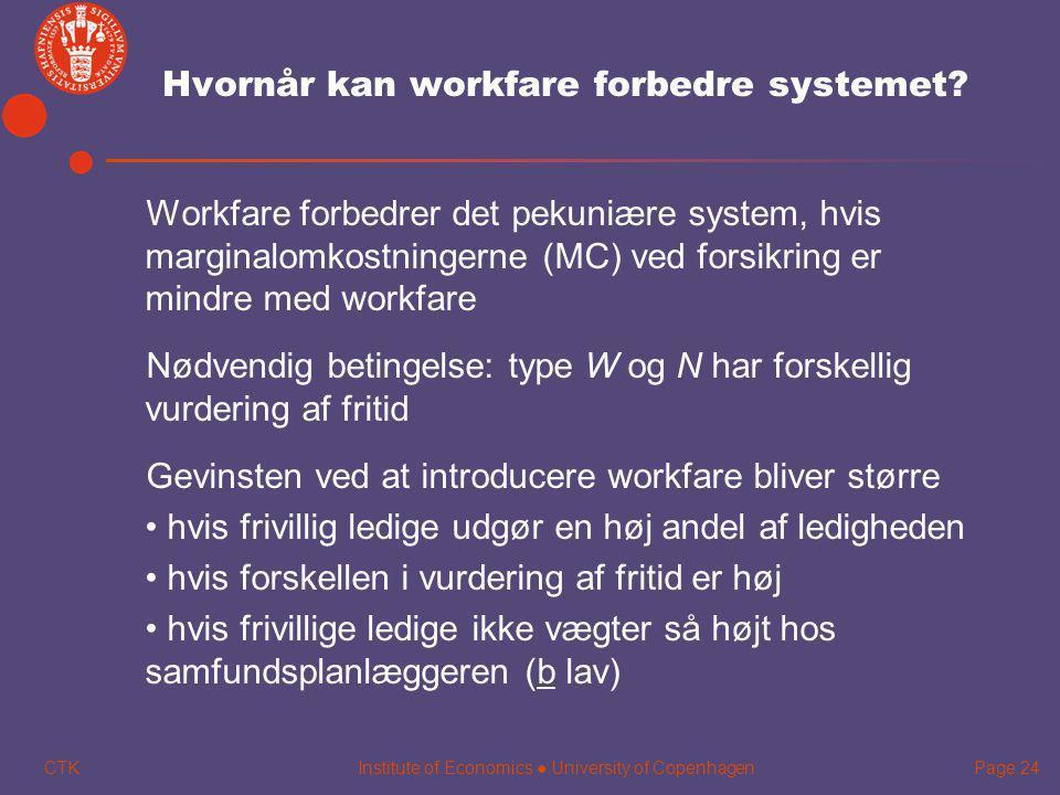 Hvornår kan workfare forbedre systemet