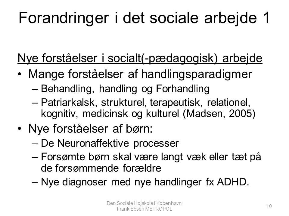 Forandringer i det sociale arbejde 1