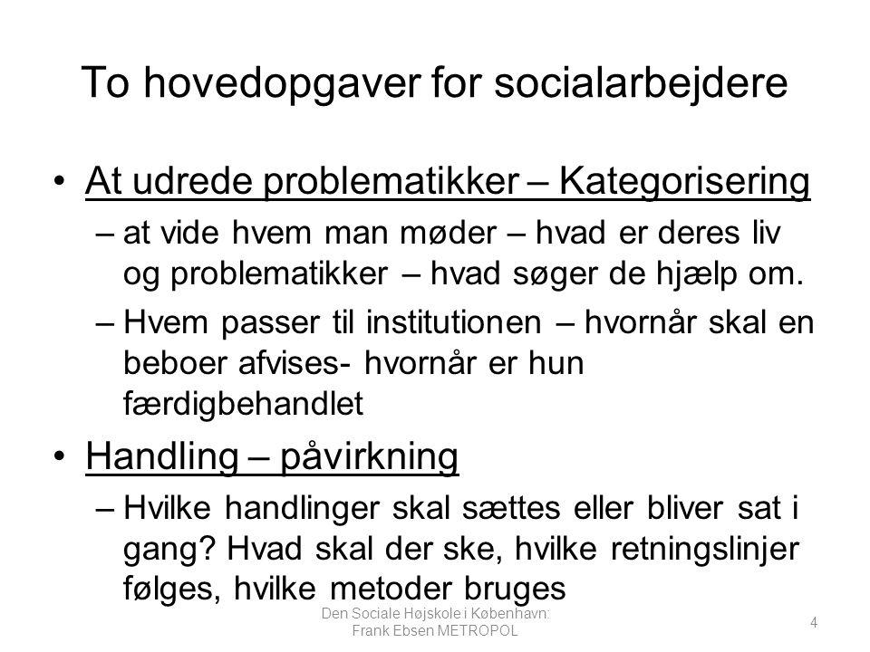 To hovedopgaver for socialarbejdere