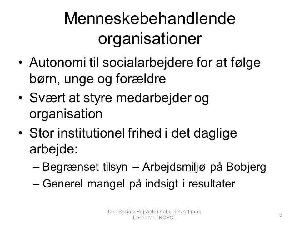 Menneskebehandlende organisationer