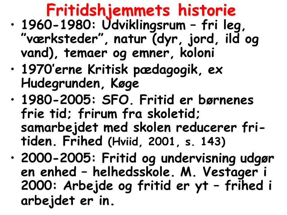 Fritidshjemmets historie