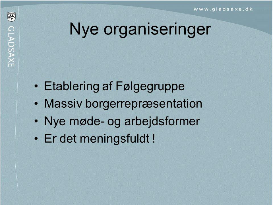 Nye organiseringer Etablering af Følgegruppe