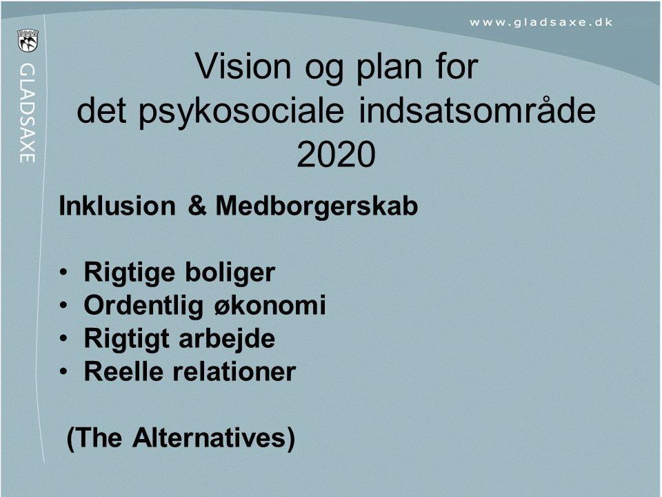 Vision og plan for det psykosociale indsatsområde 2020
