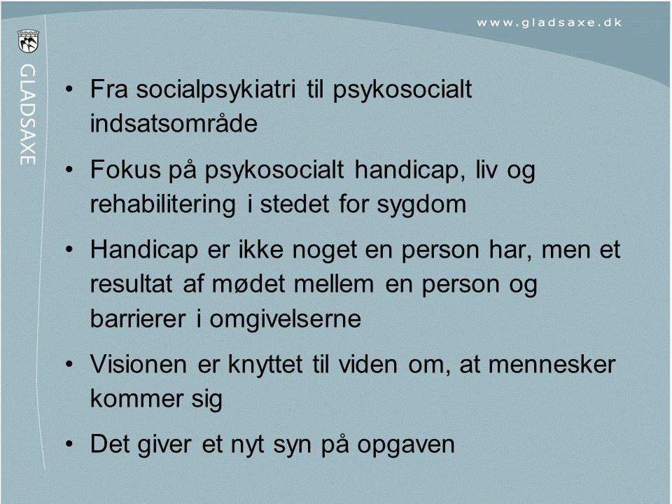 Fra socialpsykiatri til psykosocialt indsatsområde