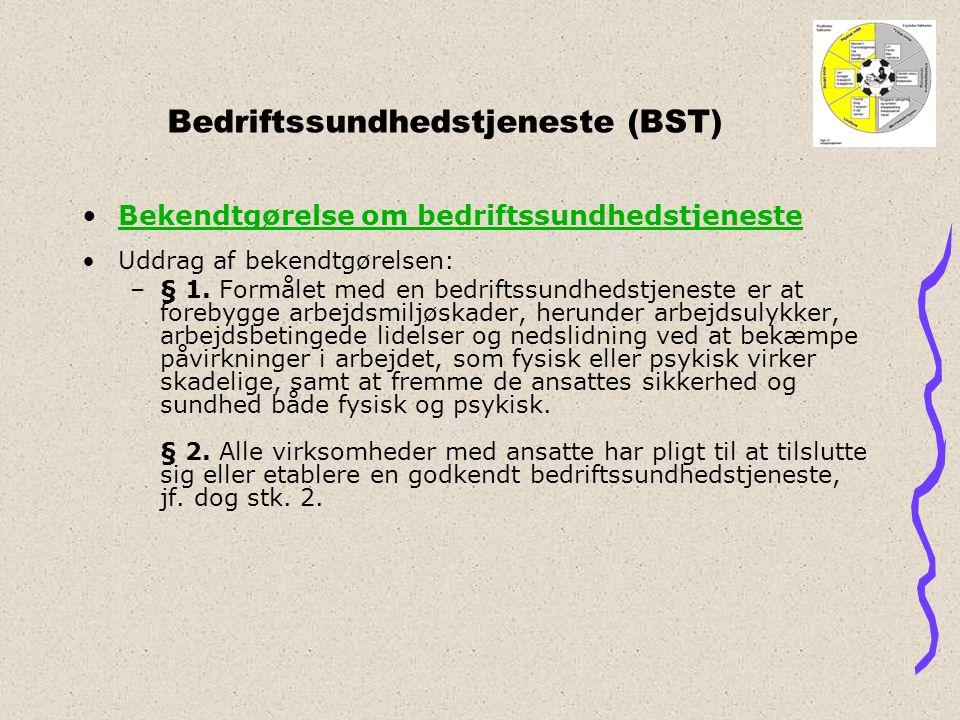 Bedriftssundhedstjeneste (BST)