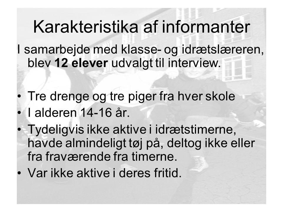 Karakteristika af informanter