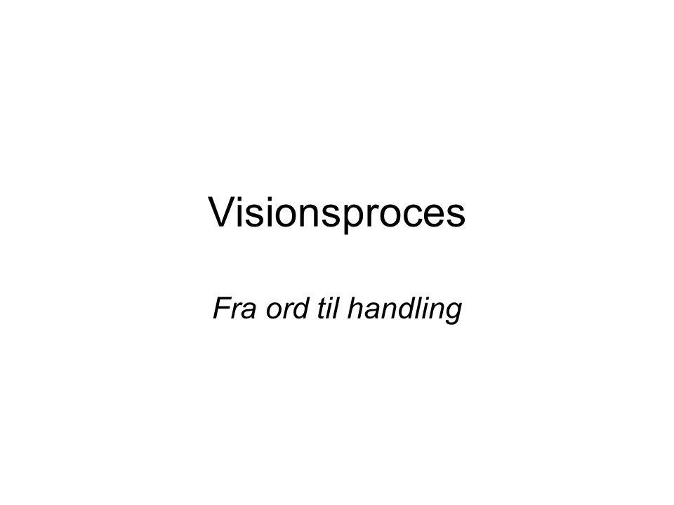 Visionsproces Fra ord til handling