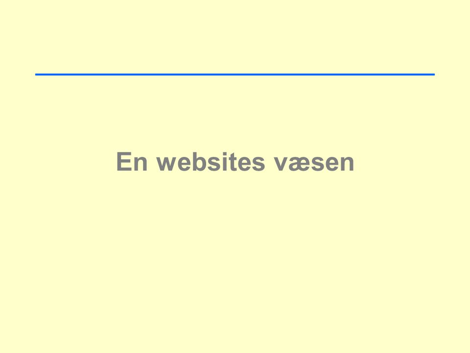 En websites væsen