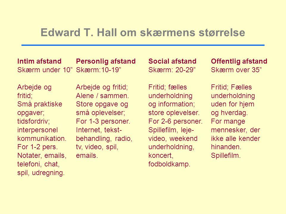 Edward T. Hall om skærmens størrelse