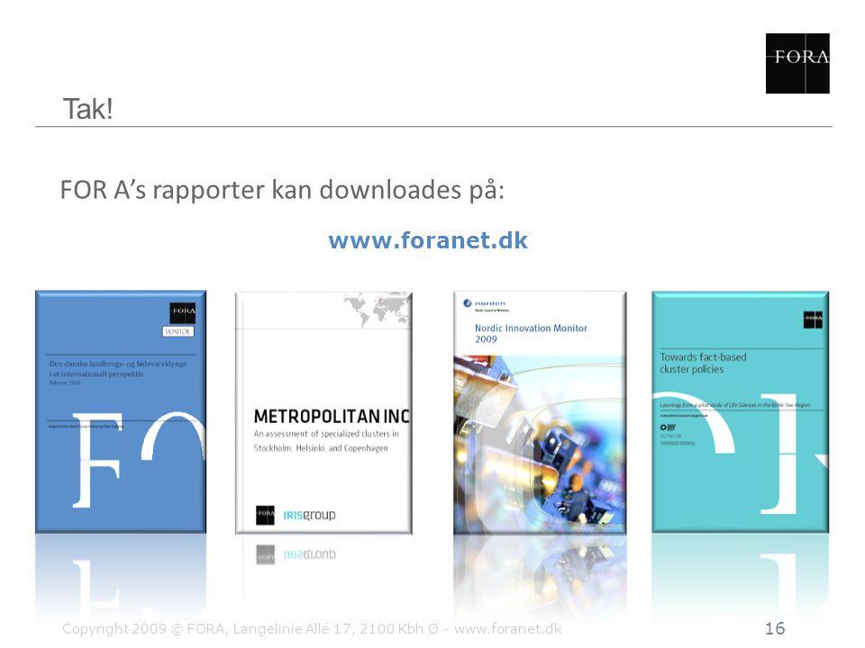 FOR A's rapporter kan downloades på: