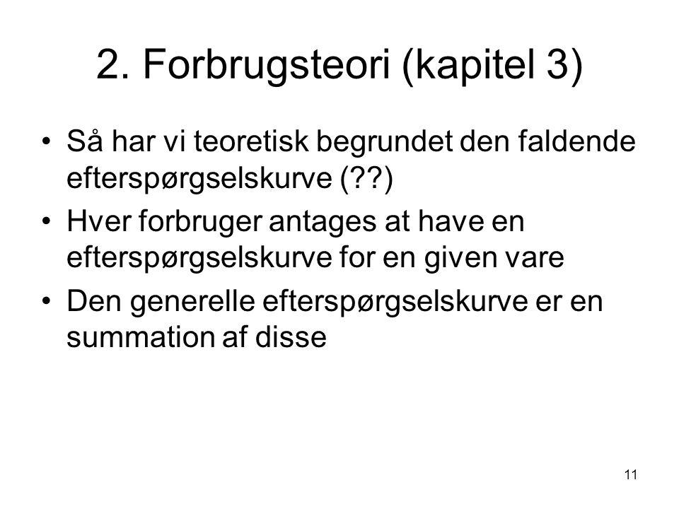 2. Forbrugsteori (kapitel 3)