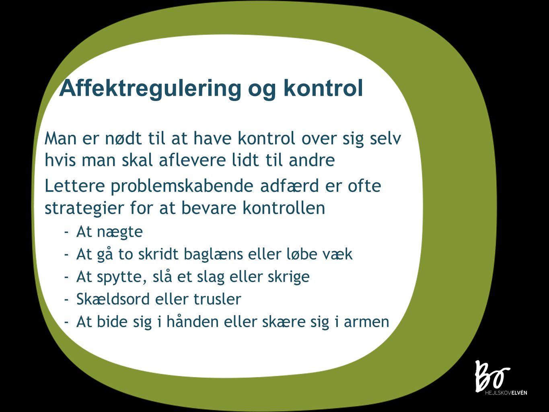 Affektregulering og kontrol