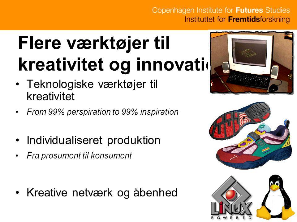 Flere værktøjer til kreativitet og innovation