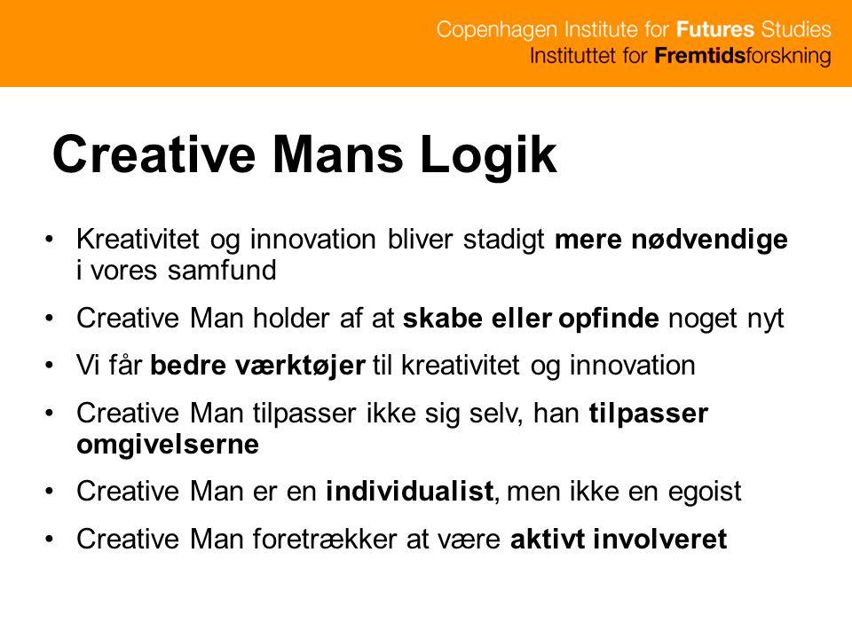 Creative Mans Logik Kreativitet og innovation bliver stadigt mere nødvendige i vores samfund.