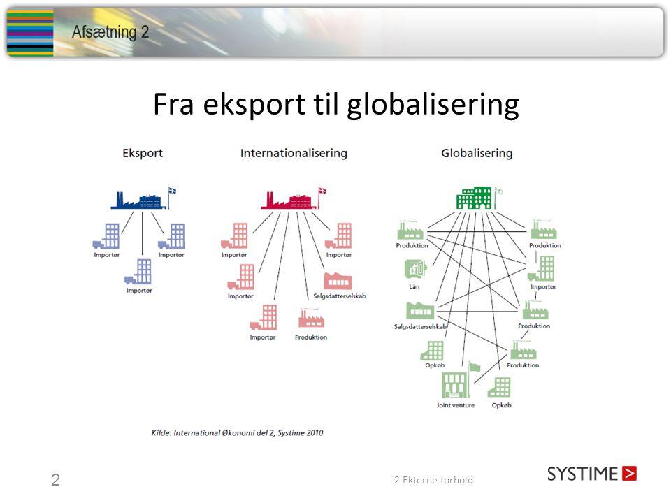 Fra eksport til globalisering