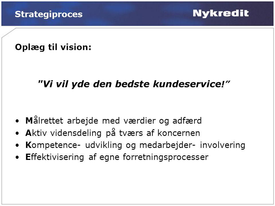 Vi vil yde den bedste kundeservice!