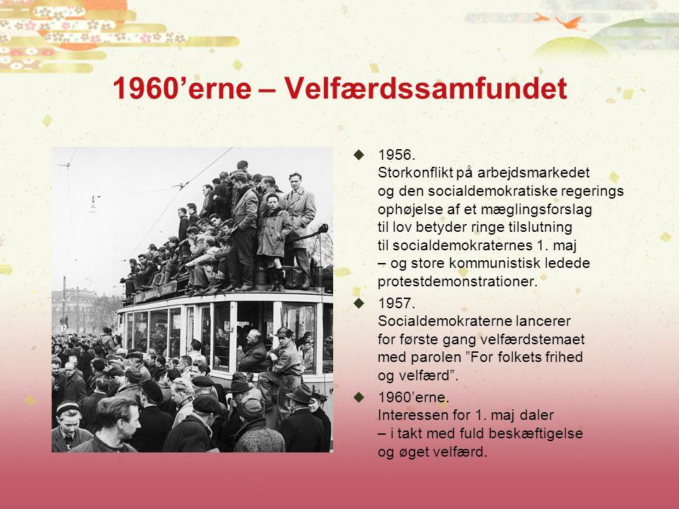 1960'erne – Velfærdssamfundet