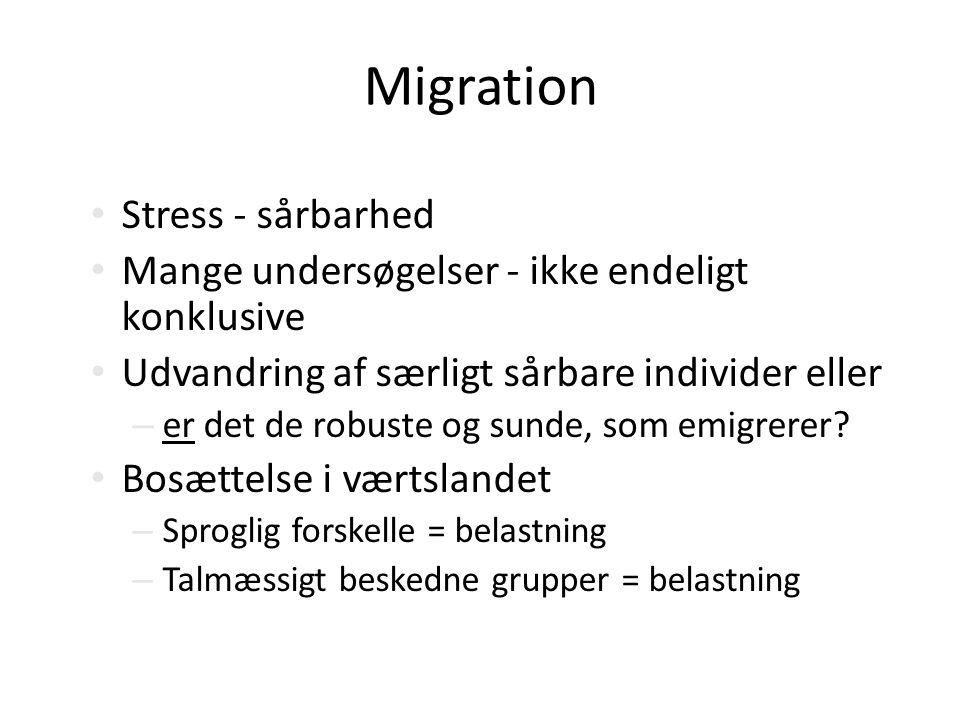 Migration Stress - sårbarhed