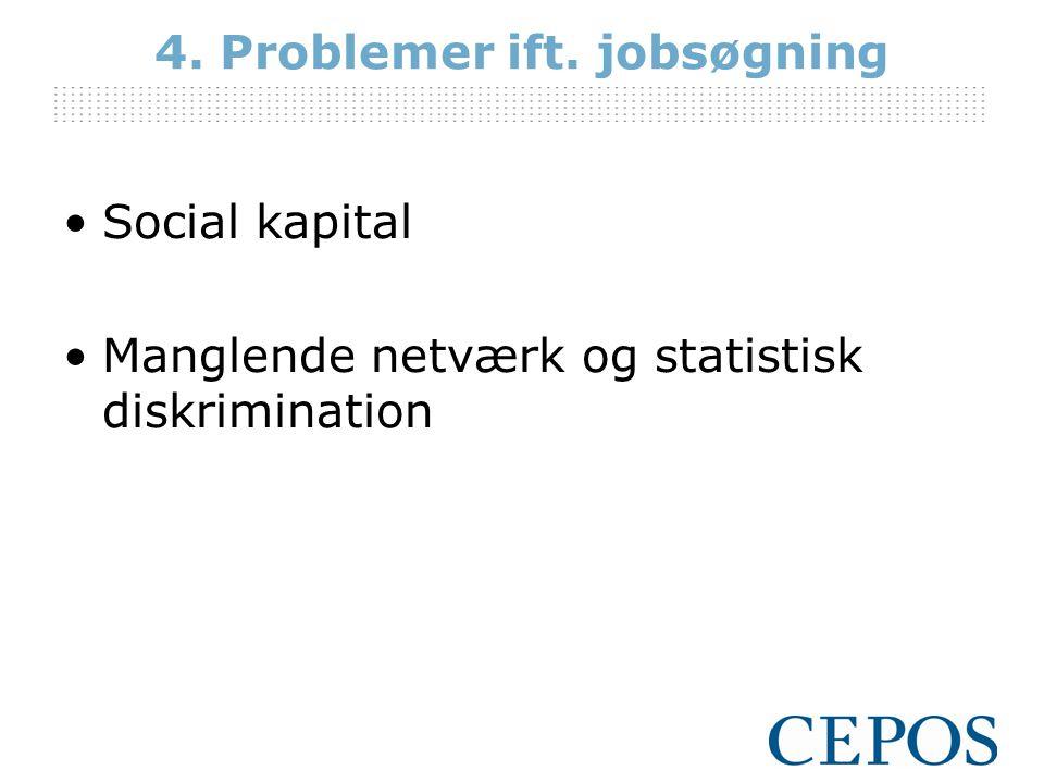 4. Problemer ift. jobsøgning