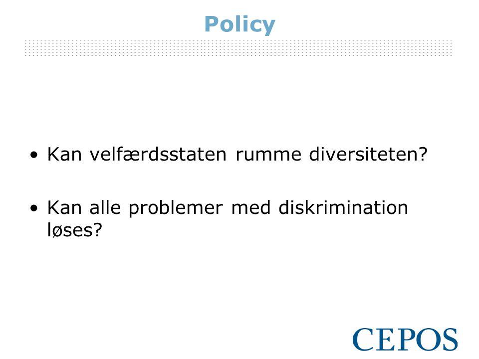 Policy Kan velfærdsstaten rumme diversiteten