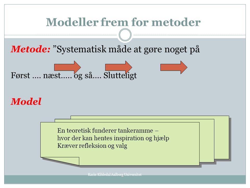 Modeller frem for metoder