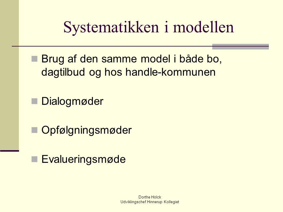 Systematikken i modellen
