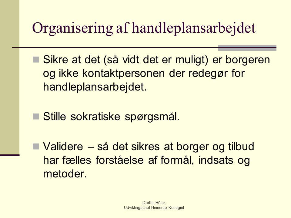 Organisering af handleplansarbejdet