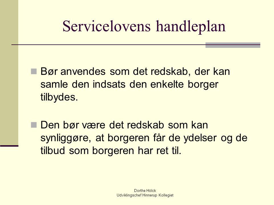 Servicelovens handleplan