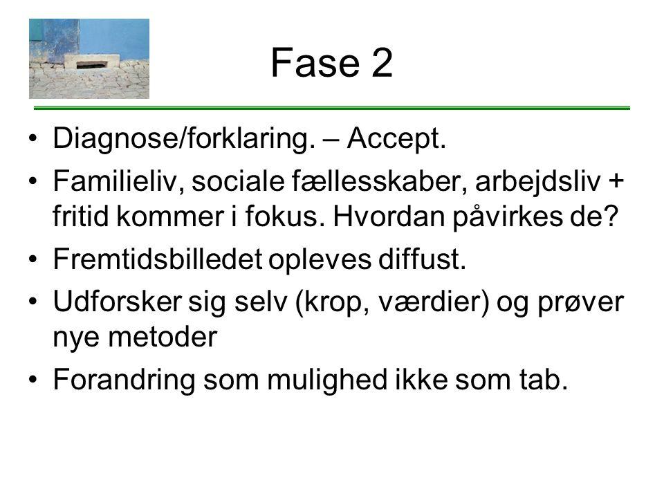 Fase 2 Diagnose/forklaring. – Accept.