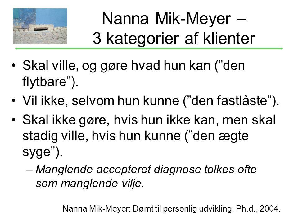 Nanna Mik-Meyer – 3 kategorier af klienter
