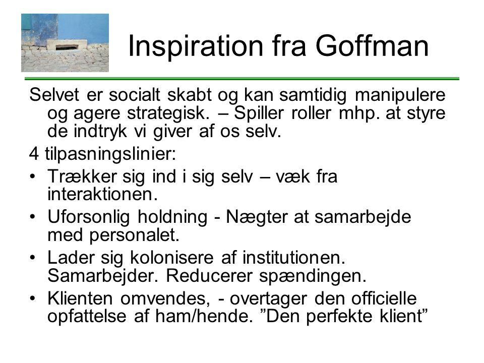 Inspiration fra Goffman