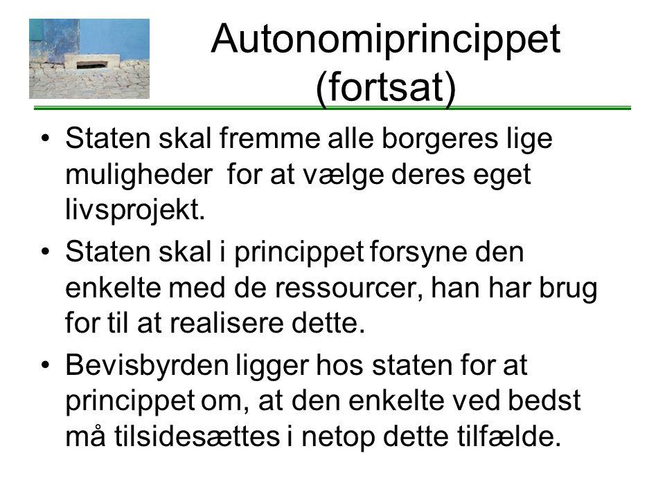 Autonomiprincippet (fortsat)