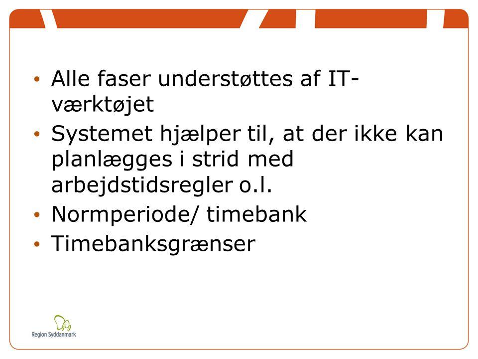 Alle faser understøttes af IT- værktøjet