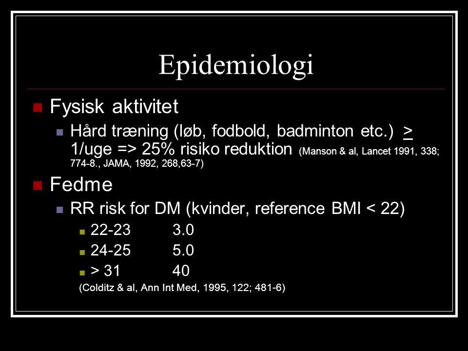 Epidemiologi Fysisk aktivitet Fedme