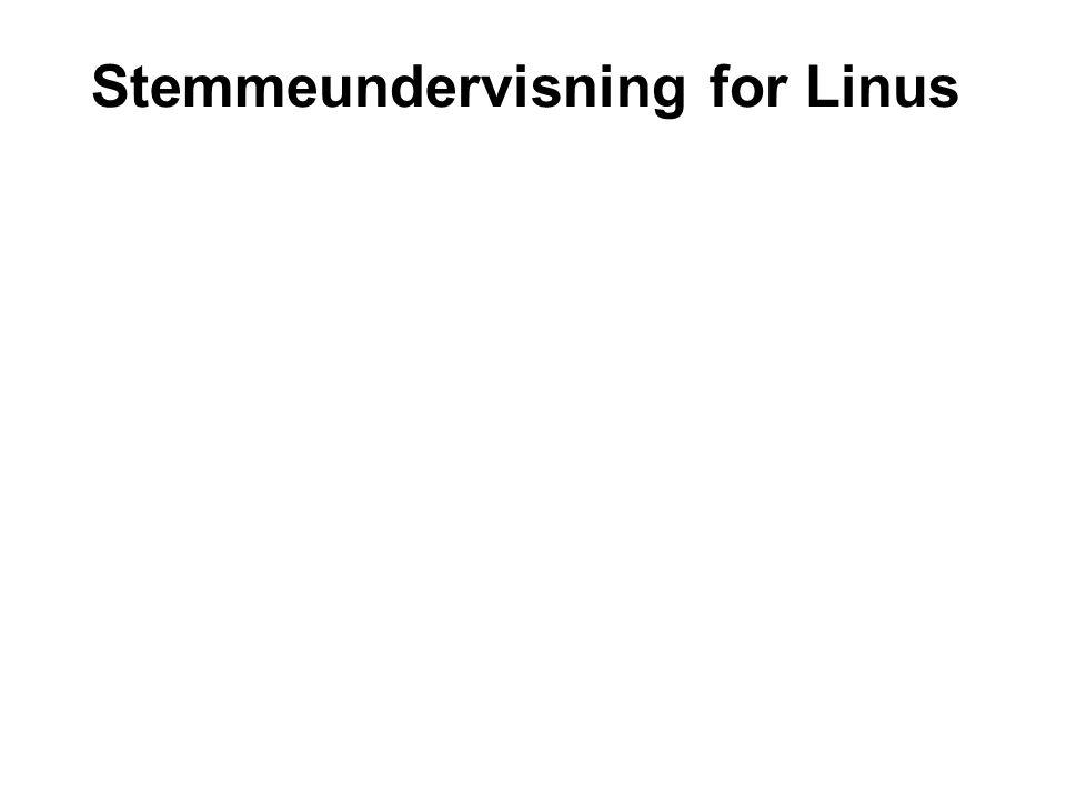 Stemmeundervisning for Linus