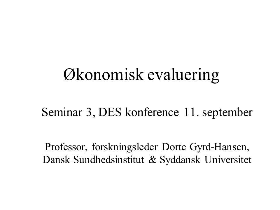 Seminar 3, DES konference 11. september