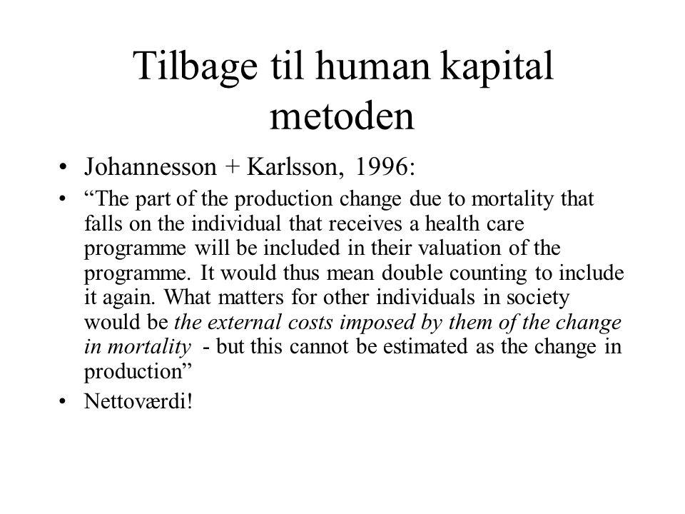 Tilbage til human kapital metoden