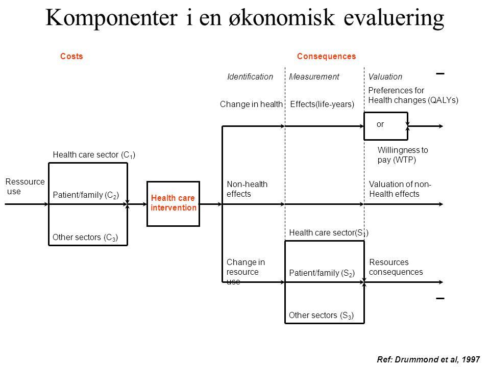 Komponenter i en økonomisk evaluering