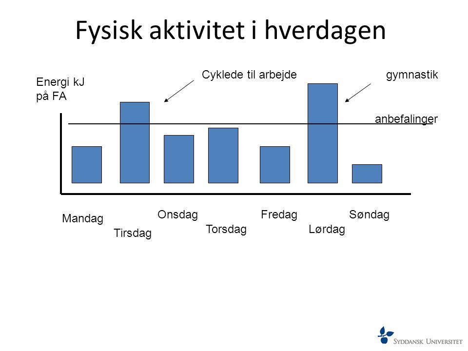 Fysisk aktivitet i hverdagen