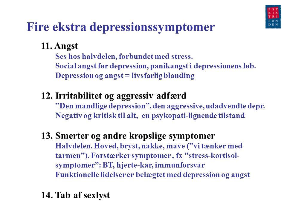 Fire ekstra depressionssymptomer
